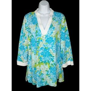Lilly Pulitzer M Joy Knit Top Tunic Exbloomsion